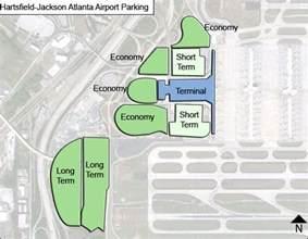 airport in atlanta map hartsfield jackson atlanta airport parking atl airport
