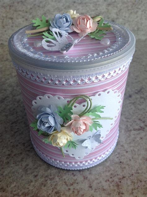 ideas con latas de dulce reciclagem de lata de leite lata forrada com papel de