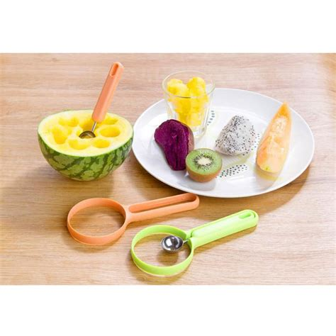 Fruits Spoon Baller 2 in 1 fruit cutter spoon fruit baller blue