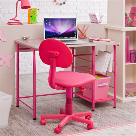 pink and white desk kid desk with chair design homesfeed
