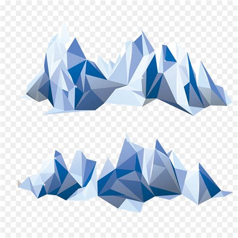 polygon mountain geometry iceberg iceberg pattern