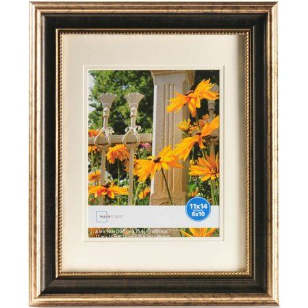 11 X 14 Frame With 8 X 10 Mat by Mainstays 11 Quot X 14 Quot Chagne Frame With Distress Espresso