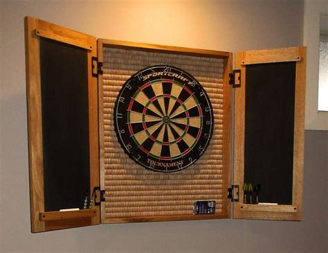 White Dartboard Cabinet by Dartboard Cabinet Woodworking Dart Board