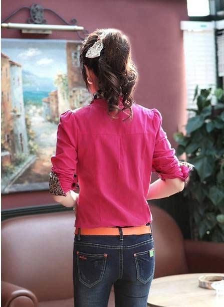 Baju Atasan Murah Wanita Vinaya Top Pink Limited baju kemeja wanita motif leopard terbaru model terbaru jual murah import kerja