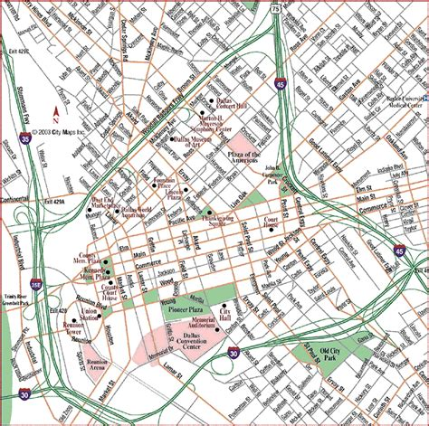 road map of dallas texas road map of dallas center dallas texas aaccessmaps