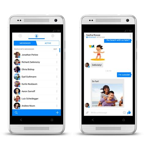 full version fb on mobile facebook s updated messenger is an sms app killer