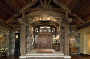 Interior Grand Entrance   Rustic   Entry   San Francisco   by Peninsula Building Materials