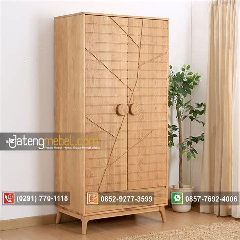 toko furniture jual lemari pakaian minimalis pintu 2 jati