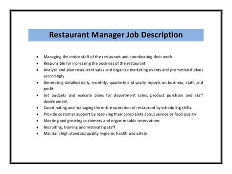 restaurant manager resume sample airport restaurant management