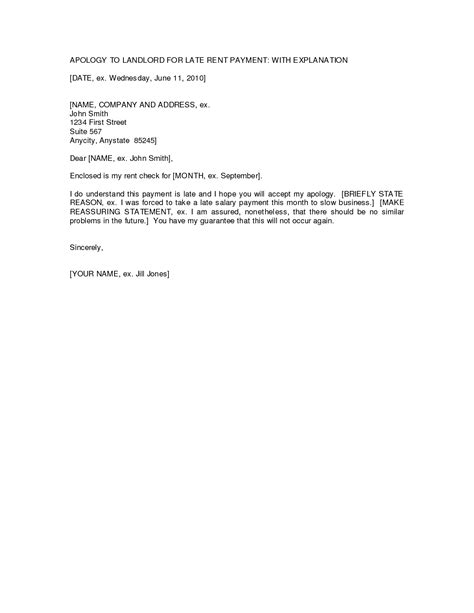Letter Of Recommendation Late best photos of sle rent letter sle rent increase