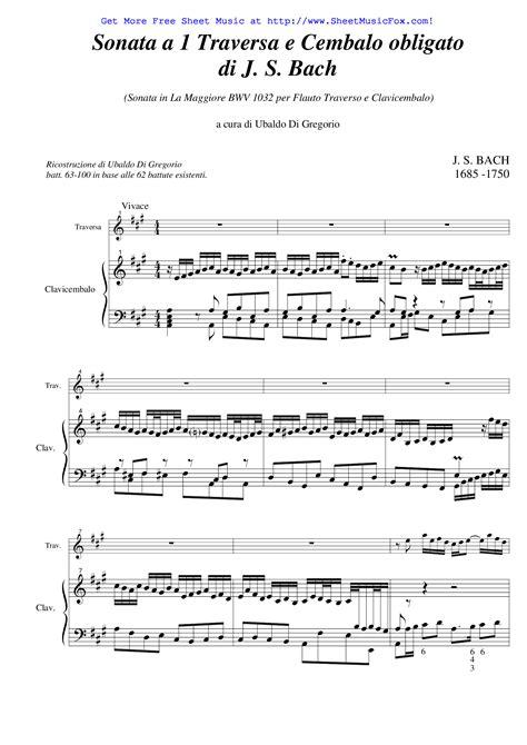 sheet for flute johann sebastian bach sonate in free sheet for flute sonata in a major bwv 1032