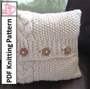 Easy Cushion Cover Knitting Pattern Braided Cable Stitchs 15 Patterns