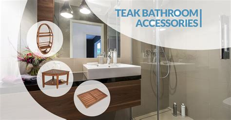 teak bathroom accessories aqua teak