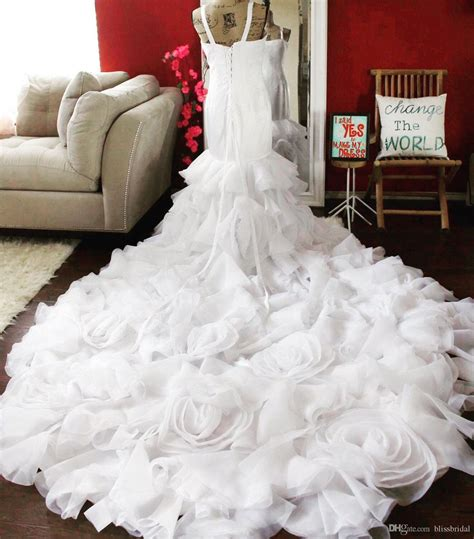 Vera Wang More Than by White By Vera Wang Organza Rosette Wedding Dress More Than