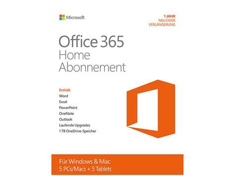 microsoft office 365 home abonnement 5 benutzer