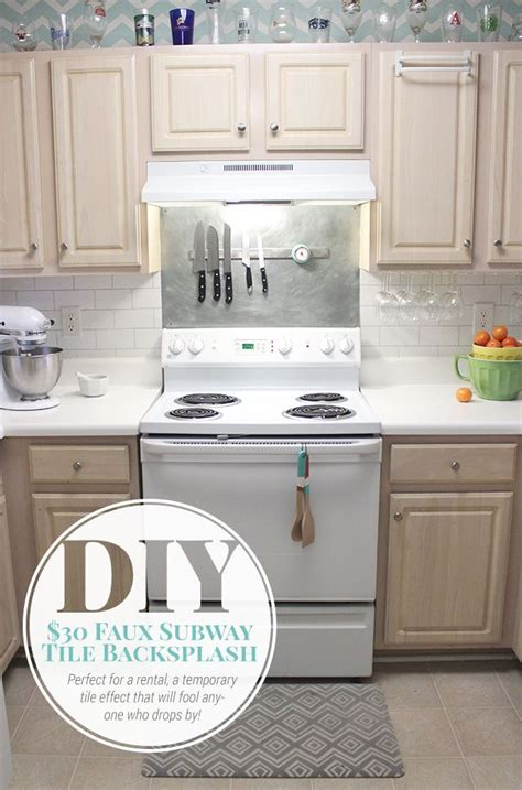diy kitchen backsplash tile hometalk 30 faux subway tile backsplash diy
