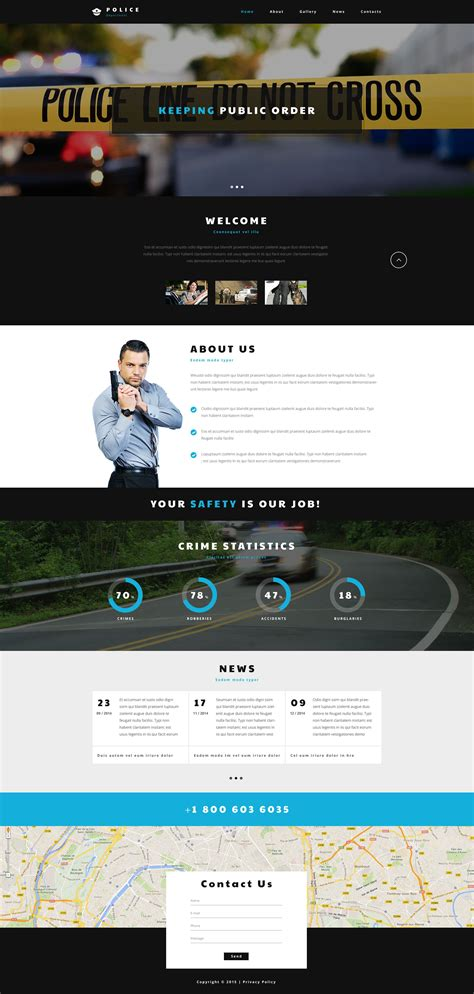 templates for police website police department web template