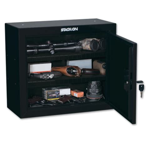 stack on pistol ammo cabinet with 2 shelves gcb 900