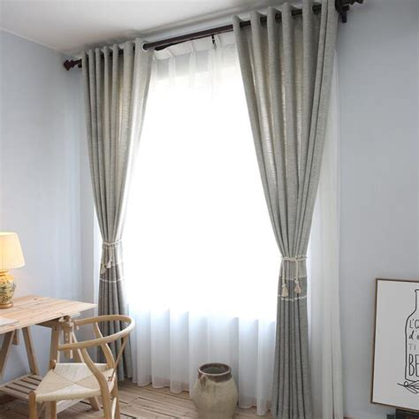 Dining Room Burlap Curtains Modern Burlap Patterned Apartment Dining Room Curtains