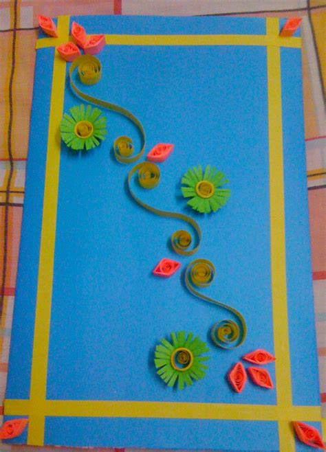 How To Make Handmade Paper Files - paper quilling card