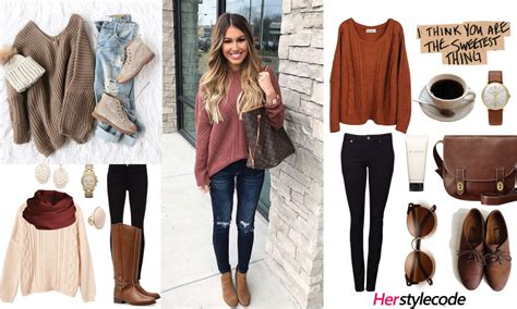 chic sweater outfit ideas  fallwinter