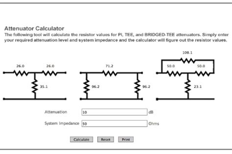 resistor ladder attenuator calculate resistor ladder 28 images pi attenuator calculator pi attenuator formula chapter