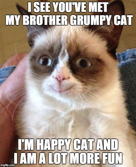 Happy Grumpy Cat Meme - grumpy cat happy meme imgflip