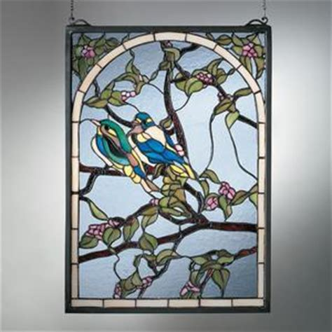 hanging glass wall decor wall designs glass wall lovebirds trellis stained