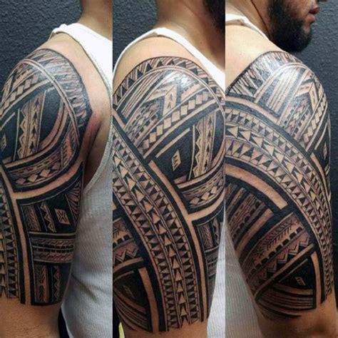 polynesian tattoo inspiration 50 polynesian half sleeve tattoo designs for men tribal