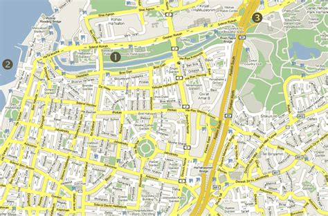 tel aviv map tel aviv map tourist attractions travelsfinders
