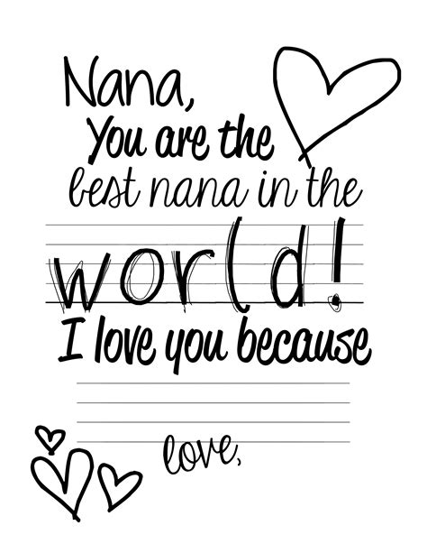 printable birthday cards nana 7 best images of mother s day nana printable cards