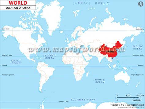 Find Worldwide Where Is China Location Of China