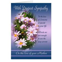 loss of with deepest sympathy card zazzle