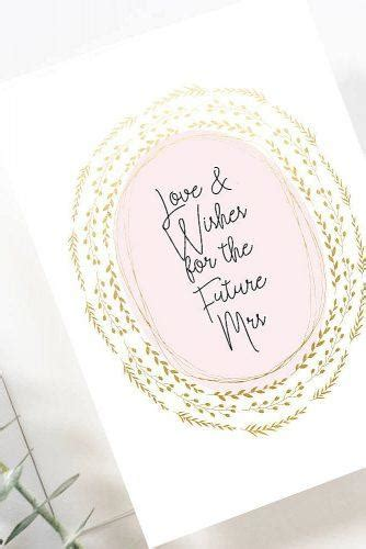 bridal shower wishes tips  examples  card wedding
