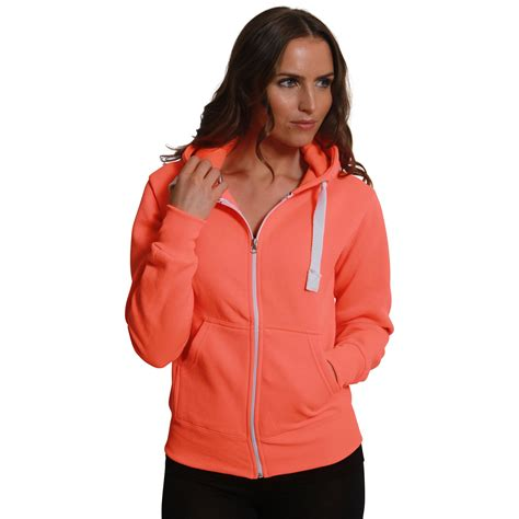 Zipper Plain Hoodie womens fleece plain zip malaika hoodie plus size zipper