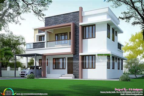 Simple home plan in modern style kerala home design and floor plans