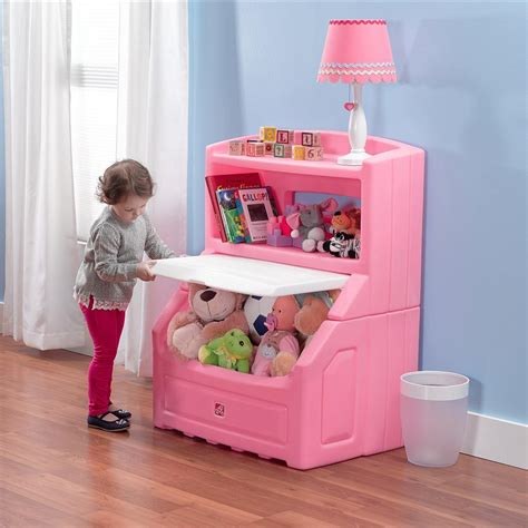 lift and hide bookcase storage chest step2 lift and hide pink kid s storage bookcase 857600