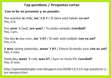preguntas directas en presente simple apuntesdeingl 233 s mari 1 1 5 tag questions y