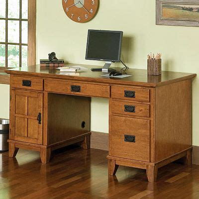 mission style home office desks amish made oak craftsman