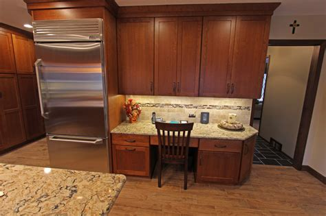 cherry cabinets with quartz countertop strongsville oh