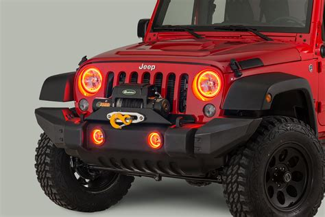 jeep lights oracle lighting headlight kit with halo rings for 07 18