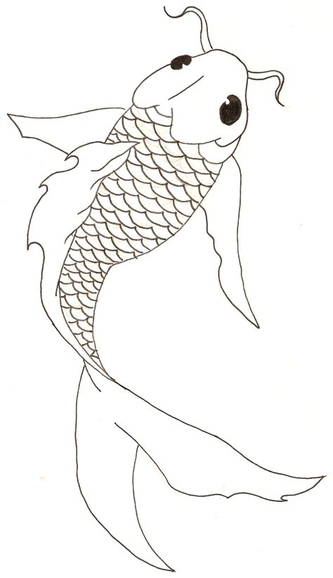pattern drawing fish koi fish free lineart by titovn on deviantart