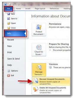 How To Retrieve Unsaved Word Documents 2013