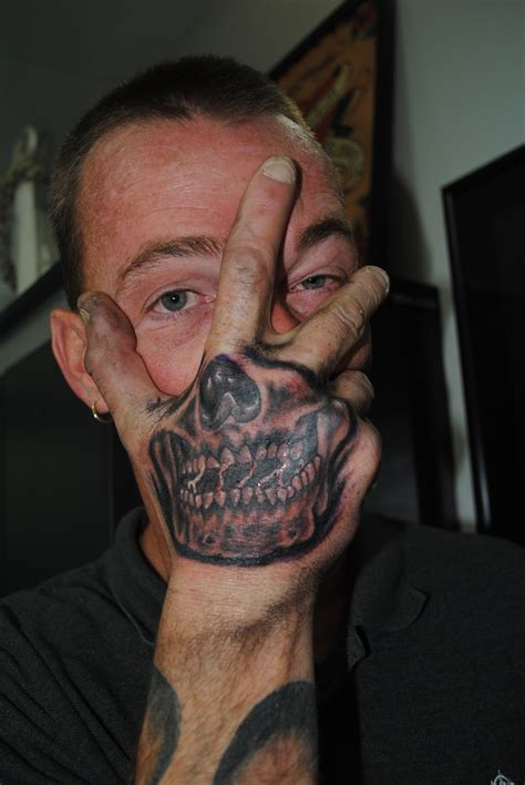 skeleton face tattoo chris puryear tattooer