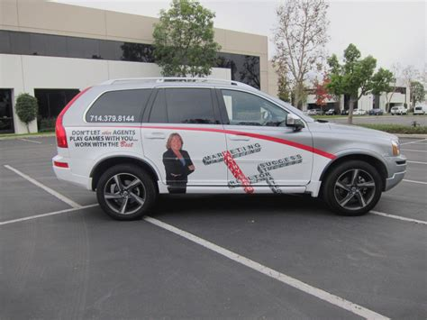 volvo  great real estate   vehicle wrap long beach ca
