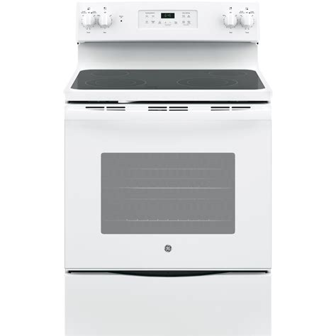 white electric range shop ge smooth surface freestanding 5 3 cu ft self