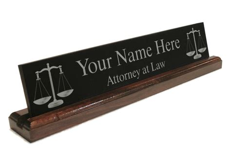 unique desk name plates details about personalized attorney lawyer desk name plate custom images frompo
