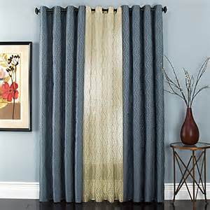 buy sloane embroidered lined grommet window curtain panels