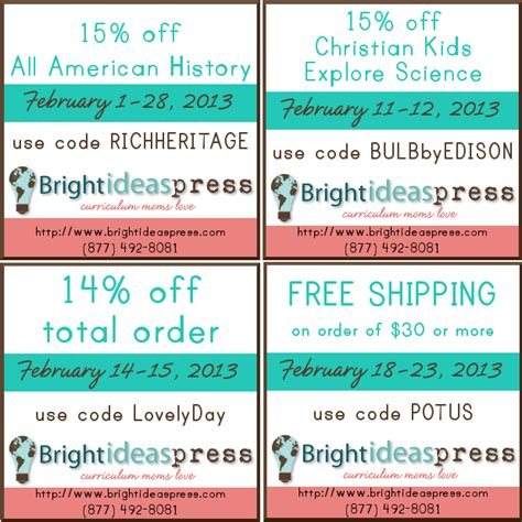 coupon ideas bright ideas press february coupons