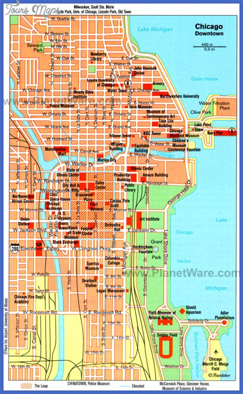 chicago map 2016 chicago map toursmaps
